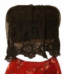 GARAGE Black Lace Bralet top Medium